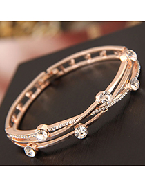Fashion Gold Flash Drill Bracelet