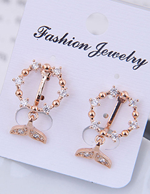 Fashion Gold Copper Micro-inlaid Zircon Fish Tail Ear Clip