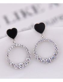 Fashion Silver 925 Silver Needle Love Earrings