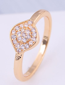 Fashion Gold Inlaid Zircon Ring