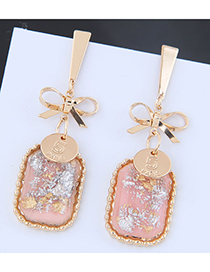 Fashion Pink Bow Earrings