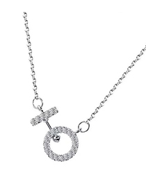 Fashion Silver Copper Plated Gold-plated Zirconium Necklace