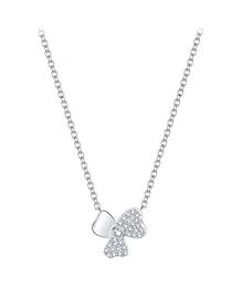 Fashion Silver Copper Plated Real Gold Clover Necklace