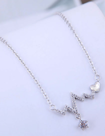 Fashion Silver Copper Plated Gold Heart Love Necklace