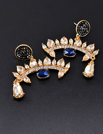 Fashion Eye Crystal Rhinestone Eye Earrings