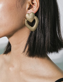 Fashion Gold Regular Wave Snack Shaped Geometric Earrings