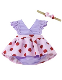 Fashion Purple Rose Lace Children's Dress Hair Band