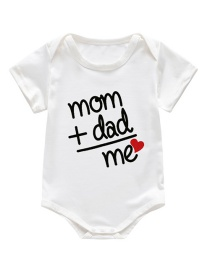 Fashion White Cartoon Alphabet Infant Child Onesies