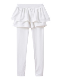 Fashion White Fake Two Children's Culottes