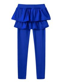 Fashion Royal Blue Fake Two Children's Culottes