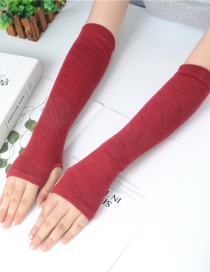 Fashion Jujube Knitting Half Finger Polyester Cotton Thin Arm Sleeve
