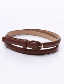 Fashion Coffee Pin Buckle Fine Belt