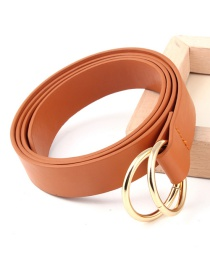Fashion Camel Double Ring Round Knot Knotted Belt
