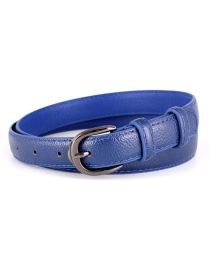 Fashion Navy Pin Buckle Wide Belt