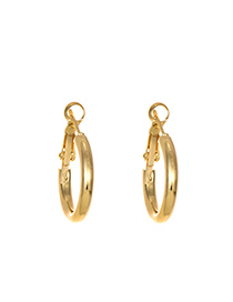 Fashion Gold Alloy Round Ear Ring