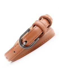 Fashion Camel Pin Buckle Leather Hollow Belt