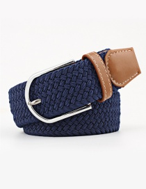 Fashion Navy Tightly Woven Wide Belt