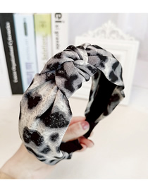 Fashion White Leopard Knot Leopard Knotted Wide-brimmed Headband