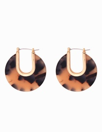 Fashion Black Acrylic Plate Earrings