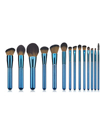 Fashion Sapphire Blue 14 Stick Makeup Brush