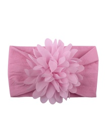 Fashion Peach Powder Nylon Chiffon Flower Baby Hair Band