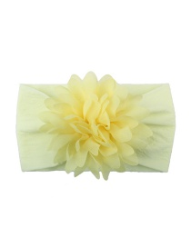 Fashion Goose Yellow Nylon Chiffon Flower Baby Hair Band
