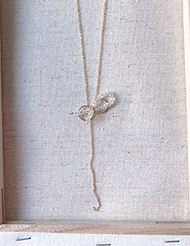 Fashion Gold Bow Y-shaped Necklace