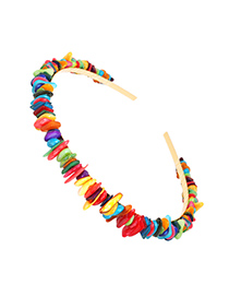 Fashion Colored Flat Natural Stone Blonde Hair Hoop