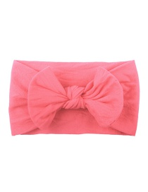 Fashion Deep Bean Paste Nylon Bow Children's Hair Band