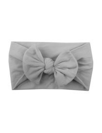 Fashion Gray Nylon Bow Children's Hair Band