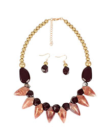 Fashion Red Wine Acrylic Necklace
