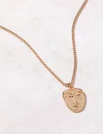 Fashion Face Golden Alloy Five-pointed Star Egyptian Necklace