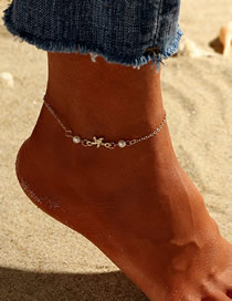 Fashion Gold Starfish Pearl Anklet