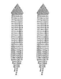 Fashion Silver Triangle Acrylic Diamond Stud Earrings