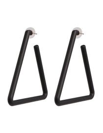 Fashion Black Geometric Triangle Acrylic Earrings