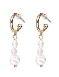 Fashion Gold Pearl Earrings