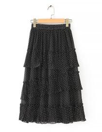 Fashion Black Polka Dot Cake Skirt