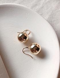 Fashion Gold Ball Earrings