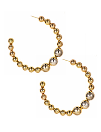 Fashion Gold Alloy Resin Ball Stud Earrings