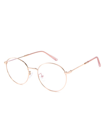 Fashion Rose Gold Frame C6 Round Frame Mirror Glasses Glasses