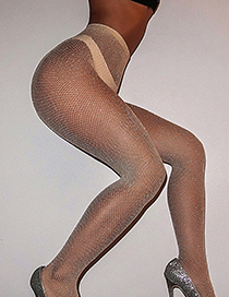 Fashion Meat Color Without Drill Perspective High-strength Stockings With Drill