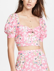 Fashion Pink Floral Top