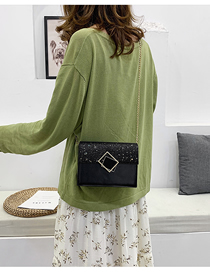 Fashion Black Colorblock Crossbody Chain Shoulder Bag