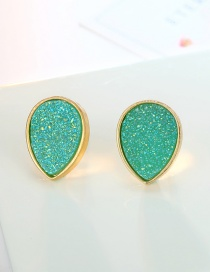 Fashion Light Green Oval Drop Earrings
