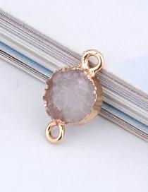 Fashion White Round Resin Double Hanging Earrings Bracelet