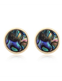 Fashion Colored Circle Imitation Natural Stone Earrings