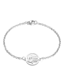 Fashion Silver Stainless Steel Palm Bracelet
