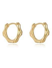 Fashion Gold About Bamboo Circle Hexagonal Earrings