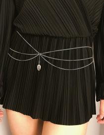 Fashion White K Fringed Shell U-shaped Waist Chain