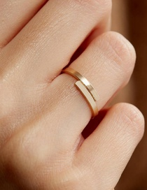 Fashion Gold Stainless Steel Geometric Smooth Ring
